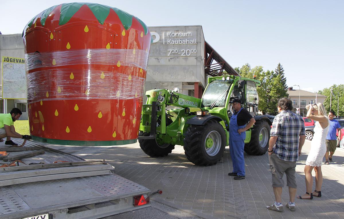 Marimarta pani kaubahalli ette suure maasika